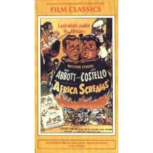 Screams [VHS]: Bud Abbott, Lou Costello, Charles Barton: Movies & TV