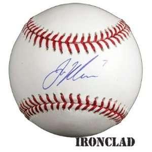 Joe Mauer Autographed Rawlings Baseball w/ #7 Inscription