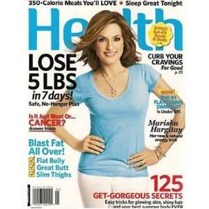 Health Magazine   Mariska Hargitay on Cover (May, 2010) Books