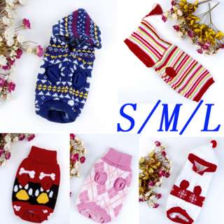 Pet Dog Puppy Sweater Knitwear Coat Apparel Clothing Hoodie/Turtleneck