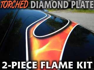 Wrecker Tow Truck Flatbed GMC Navistar TRUE FIRE & DIAMOND PLATE