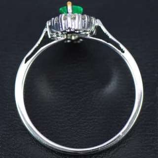 Gold Natural Top Green Emerald Diamond Ladies Engagement Ring $