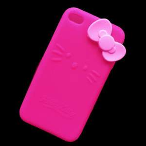 Pink Hello Kitty Silicone Cover Case For iphone 4 4G