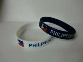 Philippines Bracelet / Wrist Bands / Philippines Flag