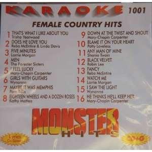 Monster Hits Karaoke Vol 1001   Female Country Hits