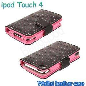 Credit ID Card Holder Flip Case Cover Pouch For iPod Touch 4 4G