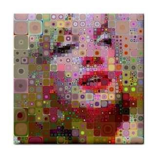 Marilyn Monroe 60s Hippy Pop Art Pic Ceramic Tile