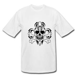 White Tribal/Tattoo Skull Mens Tees  Mens Big & Tall Shirt designed