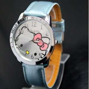 Hello Kitty Large Face Quartz Watch   Light Blue Band + Hello Kitty
