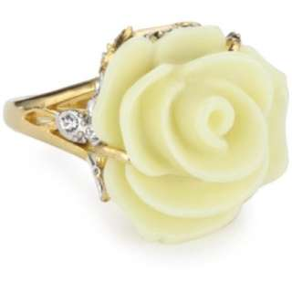Juicy Couture Love Story Boxed Gifting Ivory And Gold Rose Ring