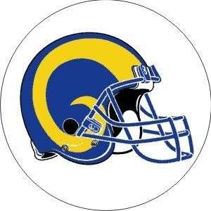 Vintage NFL Rams helmet football logo sticker decal