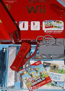 Nintendo   NINTENDO Wii   Super Mario Bros.  Pack Red Console   GAMES