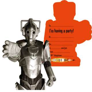 Birthday Party Supplies Doctor Who Invitations