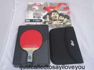 DHS 6006 Table Tennis Bat Paddle Racket Short Penhold Ping Pong w/ 4