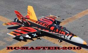 F18 HORNET TIGER RC JET 70mm FAN   READY TO FLY KIT   F35 F16 F14 F22