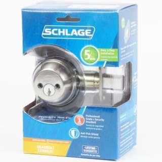 Schlage Double Cylinder Deadbolt SATIN NICKEL