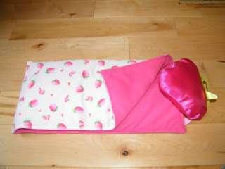 PLAYMATES Strawberry Shortcake 16 DOLL SLEEPING BAG