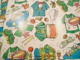Vintage Gift Wrap Wrapping Paper Doll Alvin & Chipmunks Lot   NOS