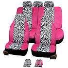 FH FB121115 Zebra Print Car Seat Covers Airbag Ready & Split Bench